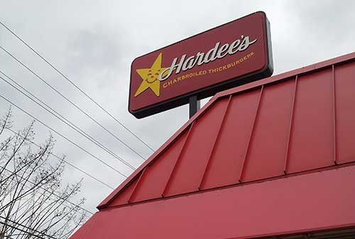 Hardees sign